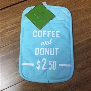 NEW Kate Spade Teal Oven Mitt Coffee and Doughnut